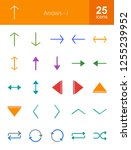 arrows flat icons | Shutterstock .eps vector #1255239952