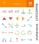 arrows flat icons | Shutterstock .eps vector #1255239958