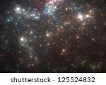 Beautiful universe background - stock photo