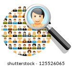 social network search and... | Shutterstock .eps vector #125526065