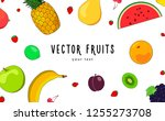 vector layout made of pineapple ... | Shutterstock .eps vector #1255273708