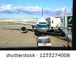 chek lap kok airport  hong kong ... | Shutterstock . vector #1255274008