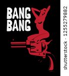 bang bang. vector hand drawn... | Shutterstock .eps vector #1255279882