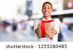 young african american man with ... | Shutterstock . vector #1255280485