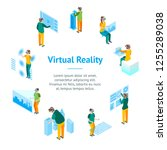 virtual reality glasses concept ...   Shutterstock .eps vector #1255289038