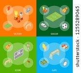 soccer sport game signs 3d...   Shutterstock .eps vector #1255289065
