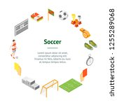 soccer sport game signs 3d...   Shutterstock .eps vector #1255289068