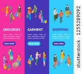 shopping people 3d banner...   Shutterstock .eps vector #1255289092
