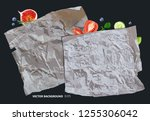 type of food parchment and... | Shutterstock .eps vector #1255306042