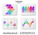colorful 3d balls infographics...   Shutterstock .eps vector #1255329112