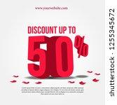 50 percentage discount sale...   Shutterstock .eps vector #1255345672