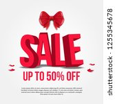 sale banner poster template...   Shutterstock .eps vector #1255345678