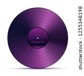 purple dj vinyl record plate... | Shutterstock .eps vector #1255348198