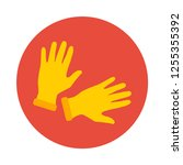 rubber gloves flat icon. you...
