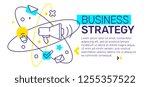 vector creative template... | Shutterstock .eps vector #1255357522
