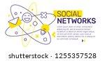 vector creative template... | Shutterstock .eps vector #1255357528