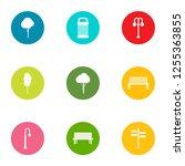 grove icons set. flat set of 9... | Shutterstock . vector #1255363855