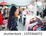 thai beautiful woman long dark... | Shutterstock . vector #1255366072