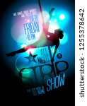 strip show poster design with a ... | Shutterstock .eps vector #1255378642