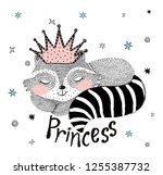 cute animal illustration for...   Shutterstock .eps vector #1255387732