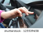 driver entering an address into ... | Shutterstock . vector #125539658