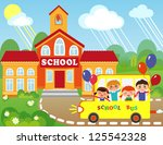 illustration of cartoon school... | Shutterstock .eps vector #125542328