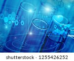 blood test laboratory analysis... | Shutterstock . vector #1255426252