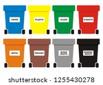 group of waste cans  eight...   Shutterstock .eps vector #1255430278