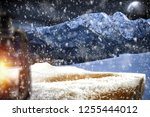 table background with blured... | Shutterstock . vector #1255444012