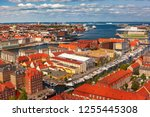 scenic aerial view of... | Shutterstock . vector #1255445308