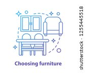 choosing furniture concept icon.... | Shutterstock .eps vector #1255445518