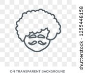 man face curly hair and... | Shutterstock .eps vector #1255448158