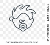 punk face icon. trendy flat... | Shutterstock .eps vector #1255448338
