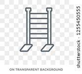 gym ladder icon. trendy flat... | Shutterstock .eps vector #1255450555
