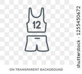 sport wear icon. trendy flat... | Shutterstock .eps vector #1255450672