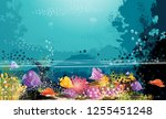 the sea  the ocean  and the... | Shutterstock .eps vector #1255451248