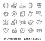set of money line icons  such... | Shutterstock .eps vector #1255451518