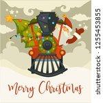 christmas holiday preparation... | Shutterstock .eps vector #1255453855