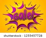 comic sale poster  speech... | Shutterstock .eps vector #1255457728