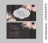 business card with beautiful... | Shutterstock .eps vector #1255463572