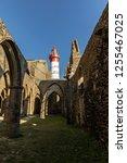 the saint mathieu lighthouse...   Shutterstock . vector #1255467025