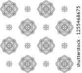 eastern black and white flower... | Shutterstock .eps vector #1255468675