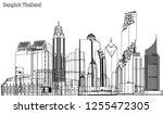 vector city bangkok thailand 3d ...   Shutterstock .eps vector #1255472305