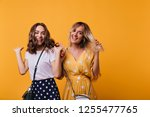 stylish cute ladies dancing and ...   Shutterstock . vector #1255477765