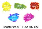 colorful vector set of speech... | Shutterstock .eps vector #1255487122