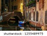 beautiful boat docked on a... | Shutterstock . vector #1255489975