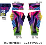 leggings pants for gym | Shutterstock .eps vector #1255490308