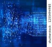 binary code. big data concept.... | Shutterstock . vector #1255494985