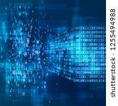 big data concept. digital... | Shutterstock . vector #1255494988