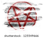 pentagram symbol painted on... | Shutterstock . vector #125549666